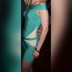 GUESS by MARCIANO foam green bandage dress